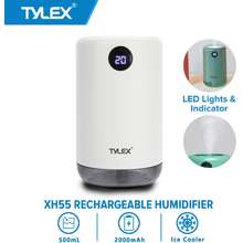 Tylex Xh55 Rechargeable Air Humidifier Aroma Mist Diffuser 500Ml Low Noise Luminous Table Lamp