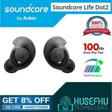 Anker Soundcore Life Dot 2 100Hr Playing Wireless Earbud