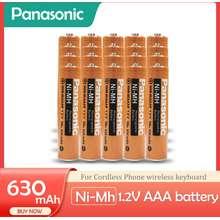 Panasonic 1.2V Ni-Mh Nimh 630Mah Aaa Rechargeable Batteries For Cordless Phone Wireless Mouse 10PCS