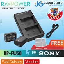 Ravpower Np-Fw50 Battery Charger And 2-Pack Rechargeable Li-Ion Batteries For Sony A And Rx Series