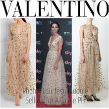 Valentino Bnwt Valentino $17,900 Sequin Embellished Tulle Evening Dress 2016