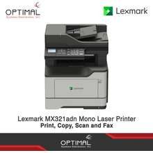Lexmark Mx321Adn Monochrome Multifunction Laser Printer - Print, Copy, Scan And Fax