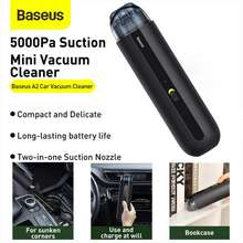 Baseus Wireless Car Vacuum Cleaner A2 5000Pa Super Suction Rechargeable Handheld Vacuum Cleaner Low noise