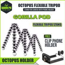 Bavin Gorilla Pod 3 Size Octopus Flexible Tripod Stand For Camera w/ Free Phone Holder tripod