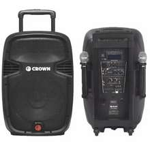 Crown PRO-5008R 15 2 Way 400W Powered Portable Sound System free 2 wireless microphone
