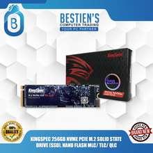 Kingspec 256GB NVME PCIE M.2 SOLID STATE DRIVE (SSD) NAND FLASH MLC/ TLC/ QLC