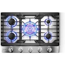 FOTILE Gls30501 30 Stainless Steel 5 Burner Gas Cooktop Tri Ring 21 000 Btus Center Burner With Flame Failure Protection Removable Grates And Installation Lp Kit