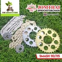 Jt Sprockets Jt Jomthai Chain & Sprocket Set ( Smash 110 / 115 ) Available In Chrome & Gold