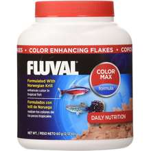 Fluval Color Enhancing Flakes Fish Food 60gm 2.12-Ounce