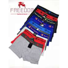 Champion New Popular Logo Men'S Breathable Cotton Fabric Youth Boxers Personality