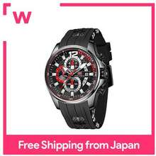 MINI FOCUS Watch mens watch for men quartz with watch function Date Silicon belt 3ATM waterproof Sturdy fashionable simple rating Casual study work Luxury analog popularity ranking Brand gift 0350 (black)