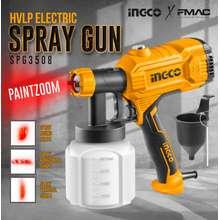 INGCO HVLP Electric Spray Gun 350W SPG3508 PAINTZOOM (WITH FREE BLACK NITRILE GLOVES + KN95 MASK) FMAC⭐⭐⭐⭐⭐