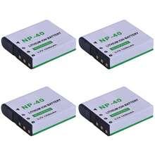 Casio 4Pcs Np40 Np-40 Camera Battery For Ex P Z200 Z1050 Z750 Z1080 Z700 Z40 Z50 Z55 Z57 Fc100 Z30 Z