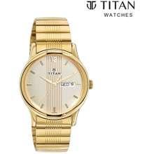 Titan Karishma Gold Stainless Steel Watch For Men Ttn1580Ym04