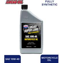 Lucas Oil SUPER LUBE SYNTHETIC SAE 10W-40 MOTORCYCLE OIL