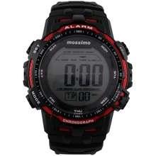 Mossimo Ryan Men Black Rubber Strap Digital Watch Ms-1827G-