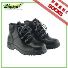 Gibson 'S Safety Shoes G901 Black High Cut For Men, Steel Toe Caps Slip Resistant, Oil Resistant