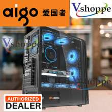 aigo ATX M-ATX Gaming Office Computer Desktop Case Casing with One Side Acrylic Panel with Front USB 3.0 & Front USB 2.0 ( PC Case Only )( No Case Fans & PSU )( Sale & Affordable )