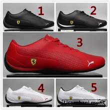 PUMA Ready Stock 5Colors 100% Ferrari Racing Mans Woman Shoes White Red Black Unisex Casual Fashion Sneakers 2020