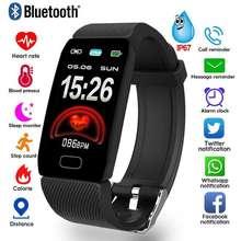 SMART WATCH 1.14 Large Screen Smart Band Weather Display Blood Pressure Heart Rate Monitor Fitness Tracker Bracelet Waterproof Men Women Kids