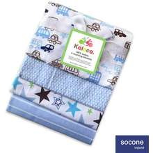 Socone 4 in 1 Receiving Baby Blanket Assorted 100% Cotton for Newborn Baby Infant Gift Idea 8782